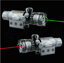 Hunting Red/Green Dot Laser Sight Adj For Rifle Scope Gun remote switch 2 mounts