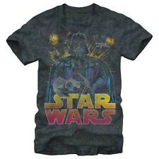 Official Mens Star Wars Ancient Threat Retro T Shirt Charcoal NEW