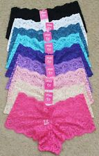Lot 1 6 12 Soft Quality Date Nigh Lace Plain Hipster Boyshorts Panty S/M/L/XL