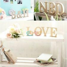 Legno di legno 26 Alphabet Letter Word Home Decor Wedding Party permanente OCIT