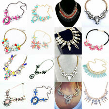 Vintage Jewelry Women Bubble Bib Chain Statement Chunky Collar Pendant Necklace
