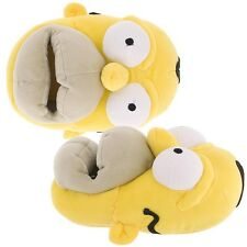 New Homer Simpson Slippers for Men Yellow Adult Novelty Funny Plush Big Mouth