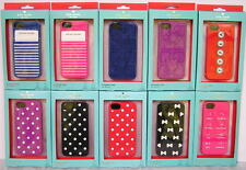 Kate Spade iPhone 5 5s Silicone Case Cover Dots Stripe Bowtie Pocket New NIB NWT