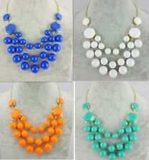 New Arrive Hot Selling Fashion Resin Round Bubble Pendant  Bib Necklace A1667b