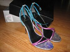 B BRIAN ATWOOD LABREA Pink Multi Snake Designer Open Toe Strappy Sandal 8.5/9