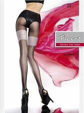 Fiore Lavis Fashion 20 Denier Nylon Elastane Pantyhose Tights FREE SHIP
