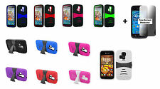 Kyocera Hydro Icon C6730 Life C6530 Rugged Phone Case + Free Screen Protector