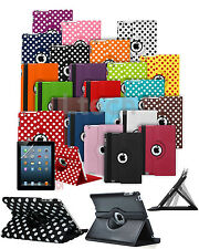 360° Rotating Swivel PU Leather Tablet Folio Case Stand Cover & Screen Protector