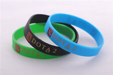 Brand New DOTA 2 Cosplay Silicone Wristbands Rubber Bracelets Free SH Gift