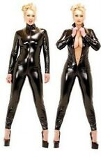 Sexy black Catsuit bodysuit zentai cosplay wet look Dom Fetish PVC Steampunk 066