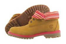 Timberland Authentics Roll Top Boot 8765R Leather Shoes Medium (B, M) Women