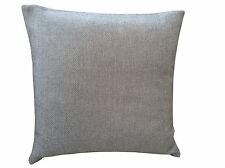 Silver grey textured weave plain scatter cushion cover made from next fabric