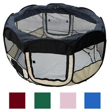 "45"" Soft Pet Playpen Exercise Puppy Dog Cat Pen Kennel Folding Tent Easy Storage"