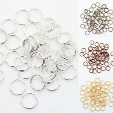 HotGold & Silver Plated 6 Colors Metal Double Split Jump Rings 6 Sizes u choose
