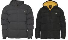 Caterpillar Mens Coat Puffa Hooded Winter Warm Quilted Jacket Black M-2XL New