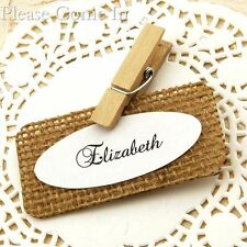 Personalised Burlap Place Cards/Escort Cards for Rustic Wedding/Party
