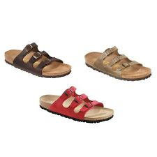 Birkenstock Florida Sandals Leather - regular and narrow - red or brown