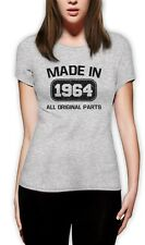 Made in 1964 Women T-Shirt 50th Birthday Gift Idea Present Original Parts Top