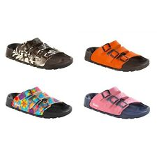 Birki by Birkenstock Cuba sandals - brown blue orange pink - Birko-Flor