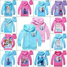 Disney Frozen Princess Elsa Anna Girls Hoodie Dress Costume Jacket Sweater hoody