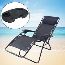 Cup Holder Zero Gravity Lounge Chairs Recliner Outdoor Beach Patio Folding Chair