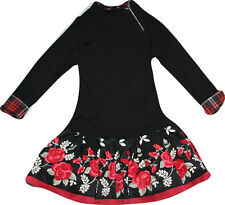 MONNALISA Kleid  black rose  Gr. 104, 116, 128, 140, 152  NEU  Wi 2014/2015