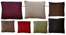 LUXURY PLAIN CHENILLE SOFT SCATTER CUSHION COVERS 45cm x 45cm