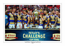 CHALLENGE CUP 2014 LEEDS RHINOS PHOTO PRINT A4 or 16 x 12 RUGBY WEMBLEY 3