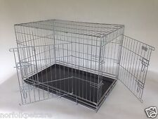 2 door dog cages Silver coated non chip hi spec by DOGHEALTH