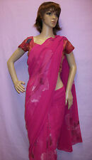 Saree Printed 2913 Pink Georgette Ready To Wear Indian Choli Bollywood Sari