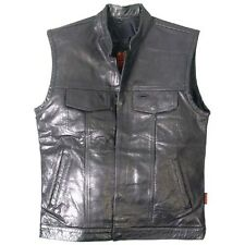 Authentic Sons of Anarchy style outlaw leather cut off vest waistcoat 1 pce back