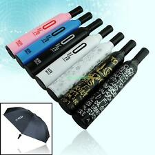 FASHION HOT WINE BOTTLE FOLDING SUN & RAIN UMBRELLA 7 DESIGNS