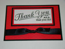 Handmade Thank You for All You Do Greeting Card - You choose colors!