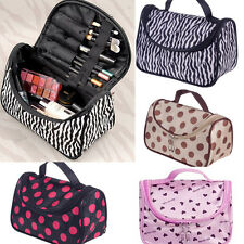 Toiletry Cosmetic Makeup Storage Bags Purse Travel Organizer Zipper Pouch Cases