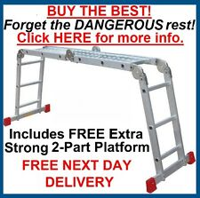 "NEW Superior ""BIG RED FOOT"" 3.55m Multi Purpose Ladder Ladders"