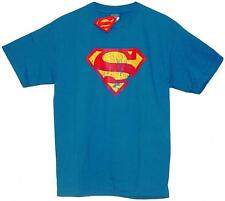 Official Licensed Superman Distressed Logo WB DC Comics Adult T-Shirt  BNWT