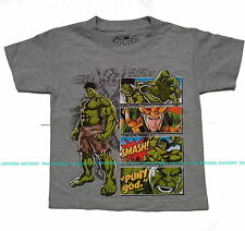 NEW Kids MARVEL THE HULK T Shirt comic hero cartoon avenger x-man mighty thor