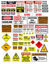 1: 18 1:24 G SCALE  WARNING SIGN DECALS FOR DIECAST GARAGE   & DIORAMAS