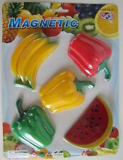 Refrigerator, Kitchen Door Magnets-Summer Fruit-Strawberries-Pumpkins-Tomatoes