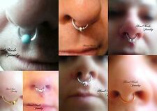 HandMade Wire Septum Nose Ring  - No piercing required (fake nose ring)