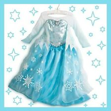 NWT! Authentic Frozen Elsa Dress Disney Store Halloween Princess Costume 4, 9-10