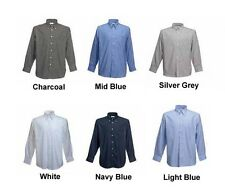Mens Long Sleeve Formal Shirts Sizes 14.5 to 19.5 / S to 3XL - BTC STYLES