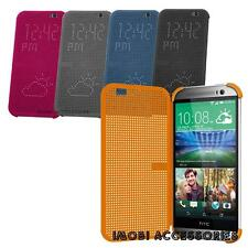 Genuine Official OEM Dot View Matrix  Flip Cover Case For HTC One (M8)