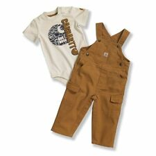 Carhartt CG8589 Infant Washed Canvas Bib Overall Set