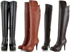Women's High Heel Long Winter Boots - Available in 3 Colours