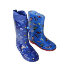 JB-CC Boys Kids Rain Boots Colorful Flat Galoshes Wellies Rubber Shoes Size 9~4