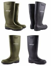 LADIES MENS DUNLOP HUNTING FISHING WALKING WATERPROOF WELLIES RAIN WELLINGTON