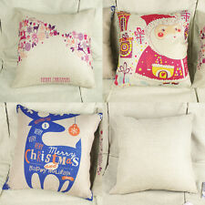 Christmas Sofa Bed Decorative Throw Cotton Pillow Case Car Back Cushion Covers
