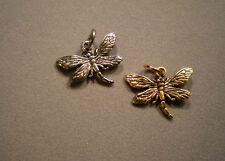 Traditional Beaucoup DRAGONFLY Charm 14K Yellow Gold Custom Plated, Animals