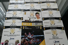 2000 Hull FC Home Programmes v Your Choice